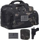 (Black Camo) DBTAC Gun Range Bag Small | Tactical 2X Pistol Shooting Range Bag