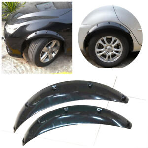Glossy Black Car Truck SUV Fender Wheel Eyebrow Covers Splash Guards Arch 2Pcs