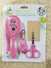 Disney Minnie Mouse Infant Grooming Set Pink Comb Brush Clipper File Scissors