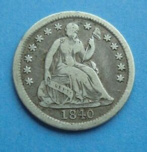 United States, 1840 Half Dime, as shown.