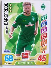Match Attax 2017/18 Bundesliga - #047 Philipp Bargfrede - SV Werder Bremen