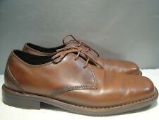 MENS 10 M ROCKPORT BROWN LEATHER DRESS COMFORT OXFORD SHOES