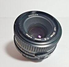 MINOLTA MD 50mm 1:1:2  F/1:2 Lens - Manual Focus - Made in Japan - Vintage