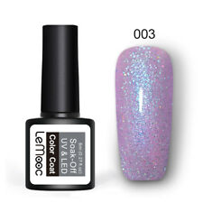 LEMOOC 8ml Glitter UV Gel Polish Holographic Sequins Soak Off Nail Art Varnish