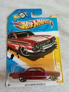 2012 Hot Wheels 61 IMPALA Red 37/247 SOFT CORNER Walmart Windshield