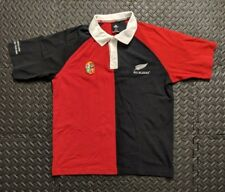 Adidas New Zealand All Blacks British & Irish Lions 2005 Rugby Tour Rugby Polo L