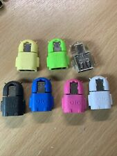 Android Shaped OTG USB to Micro USB adapter Transfer Data to/from Mobile - Pink