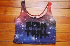 NEW Women's Been Trill #BEENTRILL Galaxy Print Cropped Tank Top (Medium)