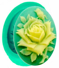 Beautiful Rose on Stem Silicone Mold for Fondant, Gum Paste & Chocolate - NEW