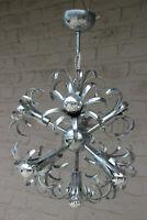 Vintage mid century Retro sputnik Sciolari design chrome chandelier