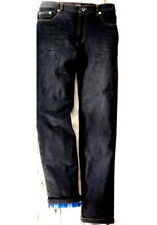 NUOVO Uomo riscaldante termici jeans pantaloni grigio antracite FODERATO 5 BORSA