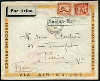 623 - Indocina francese - Busta via aerea da Saigon a Parigi, 17/12/1932