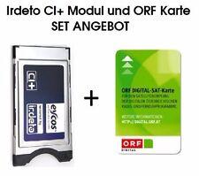 ++ORF Karte + Eycos Irdeto CI+ Modul  LED LCD TVs mit der ORF Karte HD NEU