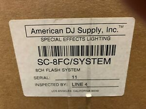American Dj SC-8FC System 8 Channel Low Voltage Switch System NEW IN BOX
