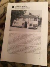 74-5 Ephemera 1996 Picture Pub The Crooked Billet Colney Heath