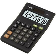 Casio MS-8B tax & exchange calculatrice - 8 chiffres-xl display-dual powered