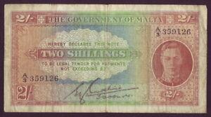Malta • 1942 • Two Shillings (2/-)