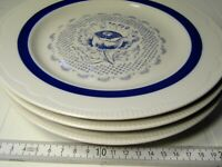 "Lot of 3 Old Vintage ""Soviet Union"" USSR CCCP Russian plates ceramic rare 129sr"