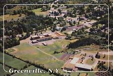 Aerial View of Greenville, New York, Baseball Field, Buildings, NY --- Postcard