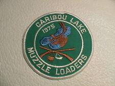 1975 CARIBOU LAKE MINNESOTA MUZZLE LOADERS RIFLE GUN HUNTING WILDLIFE PATCH NEW