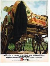 PUBLICITE advertising   1968  la bière Mutzig