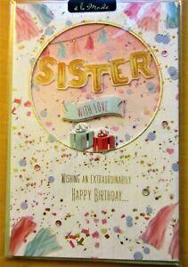 New Stock -  Gorgeous Sister Birthday Handmade Card