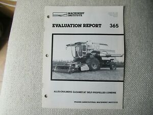 Allis-Chalmers Gleaner N7 combine evaluation report performance data brochure