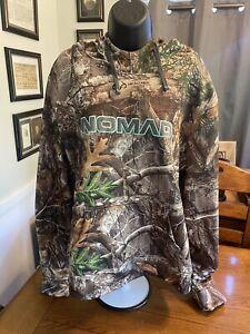 Nomad Women's Camo Hoodie Fleece Lined Hunting Pullover Sz XL EUC