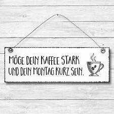 KAFFEE Dekoschild Holz Wand Tür Schild Shabby Chic Geschenk Vintage Landhaus