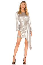 BARDOT 185$  party cocktail SHIMMER DRESS SILVER size 8 M