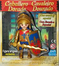 PLAYMOBIL, Figura: Caballero Dorado (Original y Exclusiva) nuevo y en blister