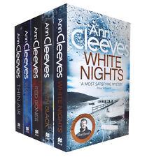 Ann Cleeves Shetland Series Quartet Collection 5 Books Set, White Nights...