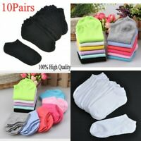 Bulk 10Pairs Women Girls Low Cut Cotton Socks Boat Ankle Candy Socks Mixed Color