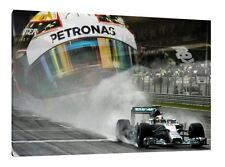 Lewis Hamilton LARGE Canvas 30x20 Inch Mercedes Framed Picture Formula One