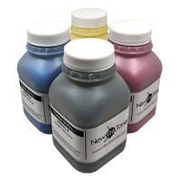 (4 x 90g) 4 Color Toner Refill for Ricoh Aficio SP C250SF, SP C250DN + 4 Chips