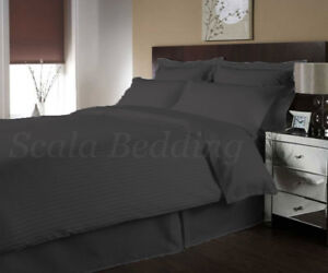Egyptian Cotton 800TC Striped Duvet Cover Set with Fitted sheet All Size & Color