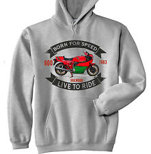 DUCATI 900 MIKE HAILWOOD - GREY HOODIE - ALL SIZES IN STOCK