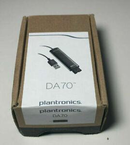 POLY   Plantronics DA70 USB to QD Headset Adapter # 201851-01 NEW IN BOX