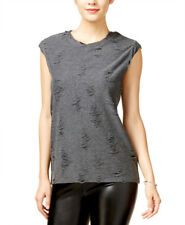GUESS $49 NEW 19753 Ripped Muscle Granite Heather Womens Top M