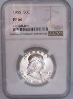 1955 Franklin Silver Half Dollar NGC PF66 Proof 66  Uncirculated