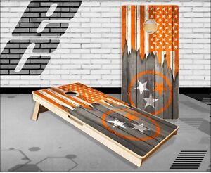 Tennessee Flag Orange Cornhole Boards Bean Bag Toss Game