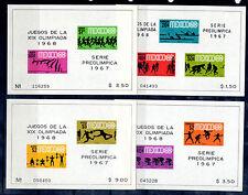 Mexico Deportes Olimpiada serie del año 1967 (BS-906)