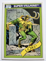 "Loki Marvel Trading Card 1990 #54 ""Super Villains"" Impel Marketing"