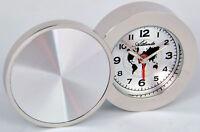 Atlanta Stilwecker Quartz Reisewecker 1132 Silber Wecker mit Metallgehäuse Neu
