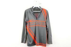 Spyder Kids Size XL Bugcentric Dry W.E.B Half Zip T-Neck Shirt Pullover Gray
