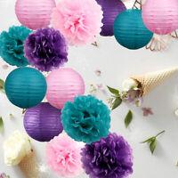 Tissue Pom Poms Paper Lanterns Wedding Baby Bedroom Birthday Party Decor Pompoms