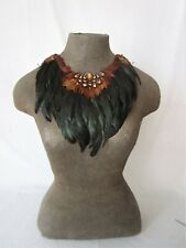 Pheasant and coquil feather collar with shell accent  37