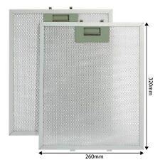 Universal 2 x Aluminium Cooker Hood Oven Extractor Fan Filters 320 x 260mm
