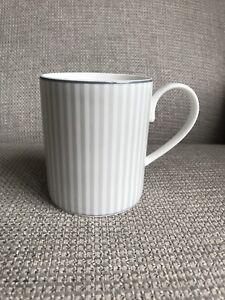 "Marks & Spencer M&S Hampton Grey Stripe - Mug 3.75"" Tall"