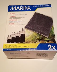 Marina Carbon Aquarium Fish 2 Pack Filter Replacement Media CF20 CF40 CF60 CF80